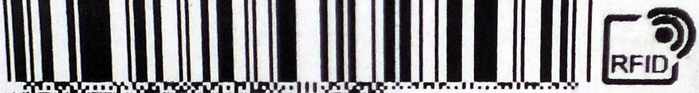 Le code barre du haut de l'étiquette RFID