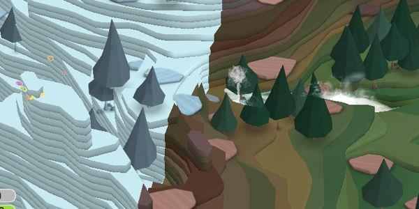 La frontière entre territoires inexplorés et explorés (en couleurs)