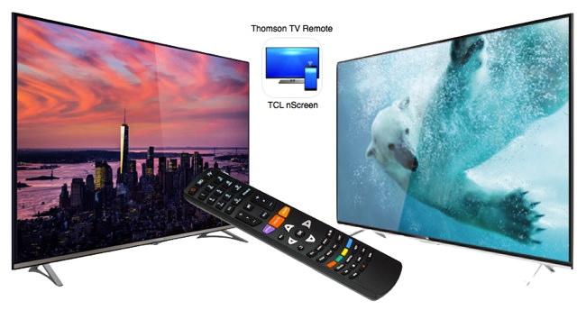 La Thomson-40UA6406, la TCL-U40S6806S et sa télécommande