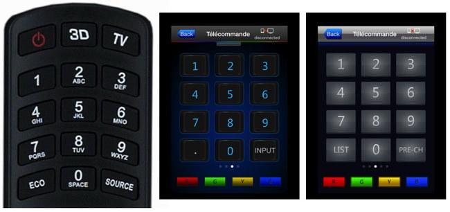 Télécommande TCL, TCL nScreen et Thomson TV Remote