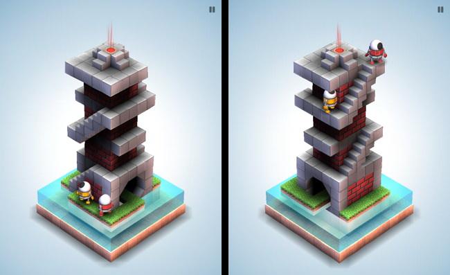 Ici un deuxième robot qu'il faudra pousser pour atteindre le haut de la tour